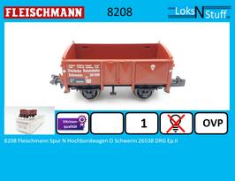 8208 Fleischmann Spur N Hochbordwagen O Schwerin 26538 DRG Ep.II