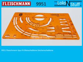 9951 Fleischmann Spur N Gleisschablone Zeichenschablone