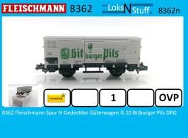 8362 Fleischmann Spur N Gedeckter Güterwagen G 10 Bitburger Pils DRG