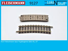 9127 Fleischmann Spur N Gebogenes Gleis R2, 15°