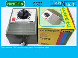 5503 Minitrix TRIX Transformator Vario Feinregelung 14VA