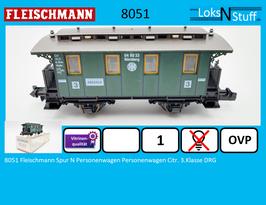 8051 Fleischmann Spur N Personenwagen Personenwagen Citr. 3.Klasse DRG