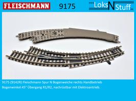9175 (9142R) Fleischmann Spur N Bogenweiche rechts Handbetrieb