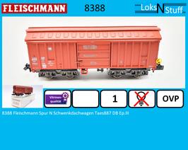 8388 Fleischmann Spur N Schwenkdachwagen Taes887 DB Ep.III