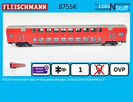 8755K Fleischmann Spur N Doppelstockwagen 2.Klasse SIHLTALBAHN Ep.V