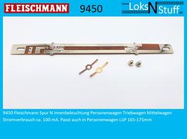 9450 Fleischmann Spur N Innenbeleuchtung Personenwagen Triebwagen Mittelwagen