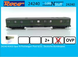 24240 ROCO Spur N Postwagen Post-b/21  Deutsche Bundespost
