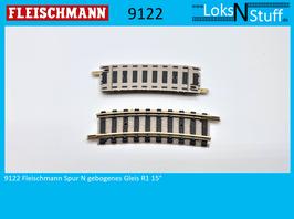 9122 Fleischmann Spur N gebogenes Gleis R1 15°