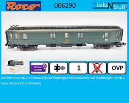 006290 ROCO Spur N Post4ü 370 Nür Postwagen der Deutschen Post Hechtwagen DP Ep.III