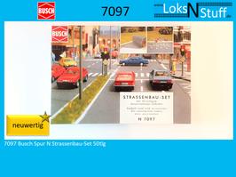 7097 Busch Spur N Strassenbau-Set 50tlg