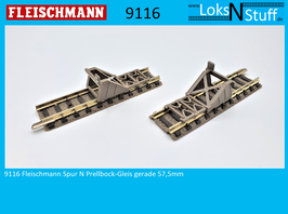 9116 Fleischmann Spur N Prellbock-Gleis gerade 57,5mm