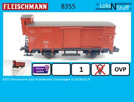 8355 Fleischmann Spur N Gedeckter Güterwagen G 10 DB Ep.III