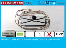 6906  Fleischmann Stellpult Kreuzungsweiche Gleisbildstellwerk H0 / N