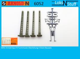 6052 Arnold Spur N Turmmaste Oberleitung 4 Stück Bausatz