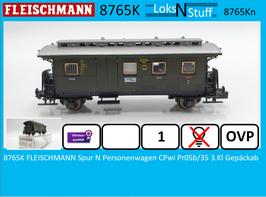 8765K FLEISCHMANN Spur N Personenwagen CPwi Pr05b/35 3.Kl mit Gepäckabteil