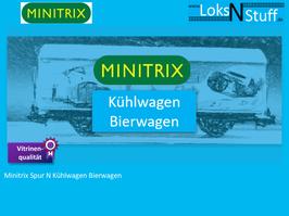 Minitrix Spur N Kühlwagen Bierwagen