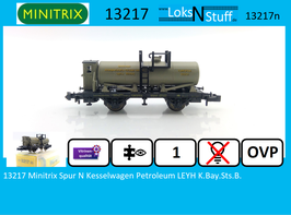 13217 Minitrix Spur N Kesselwagen Petroleum LEYH K.Bay.Sts.B.