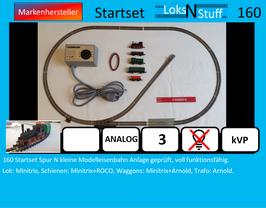 160 Startset Spur N kleine Modelleisenbahn Anlage geprüft, voll funktionsfähig.