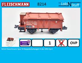 8214 Fleischmann Spur N Klappdeckelwagen K der DRG Ep.II