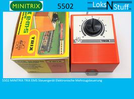 5502 MINITRIX TRIX EMS Steuergerät Elektronische Mehrzugsteuerung