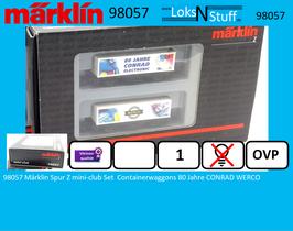 98057 Märklin Spur Z mini-club Set  Containerwaggons 80 Jahre CONRAD WERCO
