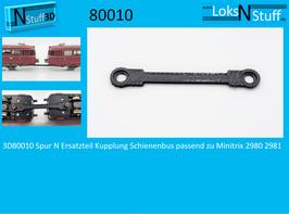 3D80010 Spur N Ersatzteil Kupplung Schienenbus passend zu Minitrix 2980 2981