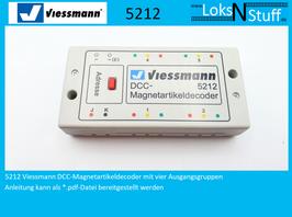 5212 Viessmann DCC-Magnetartikeldecoder mit vier Ausgangsgruppen
