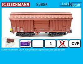 8389K Fleischmann Spur N  Schwenkdachwagen KKks01 369 031 DB Ep.III