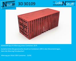 3D30109 Spur N Alterung eines Container 20 ft