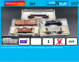 157 ATLAS MICRO TRAINS Spur N Set 5x Güterwagen SOUTHERN PACIFIC