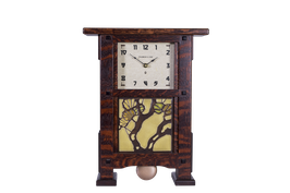 Greene & Greene Mantel Clock with your choice of any handcrafted Motawi 6x6 tile GG-66-CO