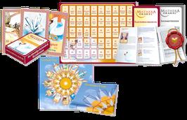 Mathera-Komplett-Set: Orakelkarten, Anleitungen, Beschreibungen, Legevorlage + Sonnenuhr