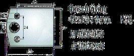 Blanket mes / Afwijzer: 40 x 59 x 4mm HSS