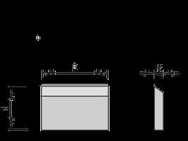 600 - 640mm HSS Schaafmes