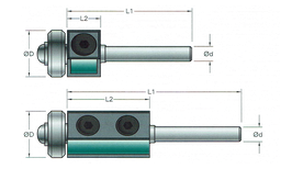 30mm S.L. Keermes kantenfrees