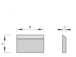 500 - 530mm HSS Schaafmes