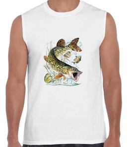T-shirt débardeur pêcheur de brochet
