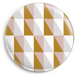 Magnet Squares, rosa/ocker (32 mm)