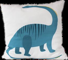 Kissenhülle Dino, blau (40x40cm)