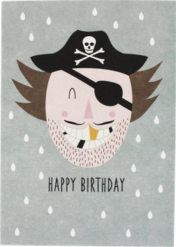 "Postkarte ""Happy Birthday"", Pirat"