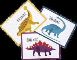 Einladungskarten-Set Dinosaurier  (6 Karten)