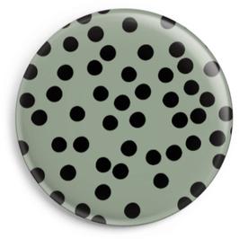 Magnet salbeigrün mit schwarzen Punkten (32 mm)