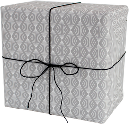 NEU! Geschenkpapier Lampion grau (3 Bogen)