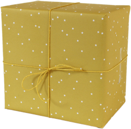 Geschenkpapier Sterne, gelb (3 Bogen)