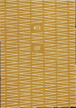 """Postkarte VVV gelb """"With Love"""""""