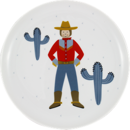 "Porzellanteller ""Cowboy"""