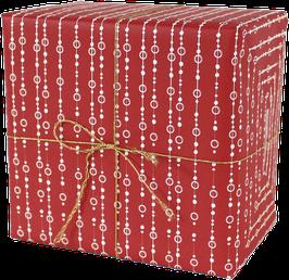 Geschenkpapier Perlen, rot (3 Bogen)
