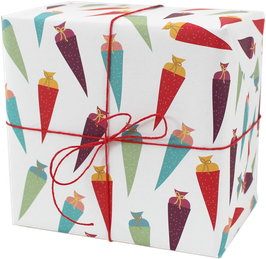Geschenkpapier Schultüten (3 Bogen)