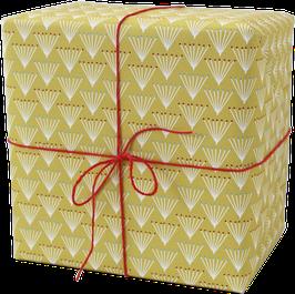 NEU! Geschenkpapier Strauss gelb (3 Bogen)