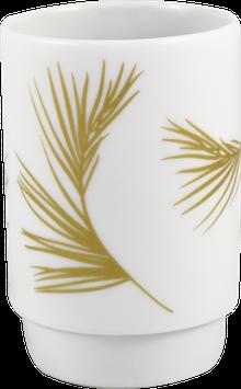 """Porzellanbecher """"Zweig"""", gold (Seltmann Weiden)"""